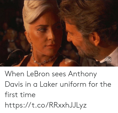 laker: abc When LeBron sees Anthony Davis in a Laker uniform for the first time https://t.co/RRxxhJJLyz