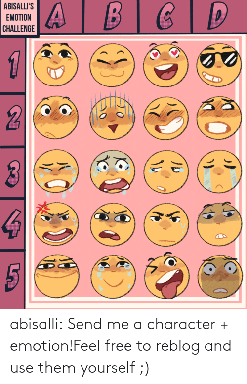 character: abisalli:  Send me a character + emotion!Feel free to reblog and use them yourself ;)