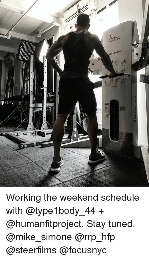 Working The Weekend: ABLE CROSS Working the weekend schedule with @type1body_44 + @humanfitproject. Stay tuned. @mike_simone @rrp_hfp @steerfilms @focusnyc