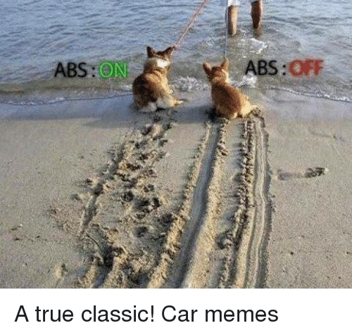 Abs On Abs Off A True Classic Car Memes Cars Meme On Sizzle