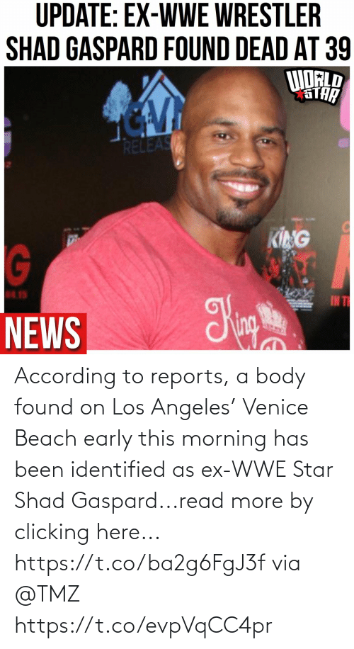 Early: According to reports,  a body found on Los Angeles' Venice Beach early this morning has been identified as ex-WWE Star Shad Gaspard...read more by clicking here... https://t.co/ba2g6FgJ3f via @TMZ https://t.co/evpVqCC4pr