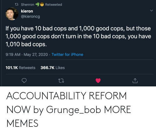 accountability: ACCOUNTABILITY REFORM NOW by Grunge_bob MORE MEMES