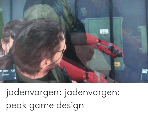 game design: ACTIV jadenvargen: jadenvargen: peak game design