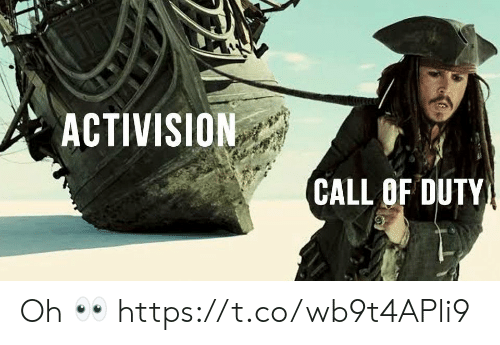 Call Of: ACTIVISION  CALL OF DUTY Oh 👀 https://t.co/wb9t4APli9
