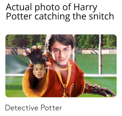 snitch: Actual photo of Harry  Potter catching the snitch Detective Potter