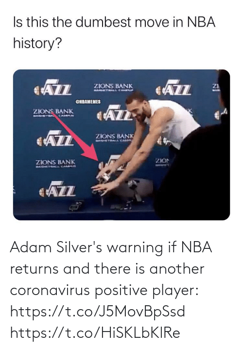 warning: Adam Silver's warning if NBA returns and there is another coronavirus positive player: https://t.co/J5MovBpSsd https://t.co/HiSKLbKlRe