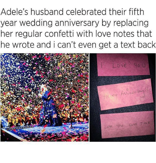 Adele's Husband Celebrated Their Fifth Year Wedding