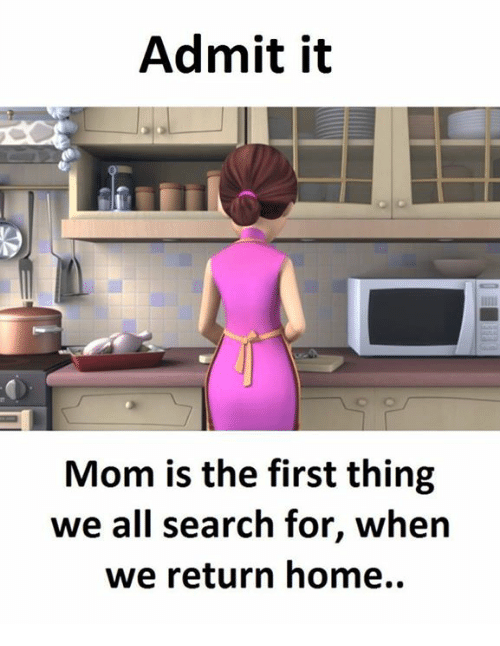 Memes, Home, and Search: Admit it  Mom is the first thing  we all search for, when  we return home.