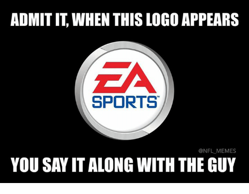 Memes, Nfl, and Sports: ADMIT IT, WHEN THIS LOGO APPEARS  SPORTS  @NFL MEMES  YOU SAY IT ALONG WITH THE GUY
