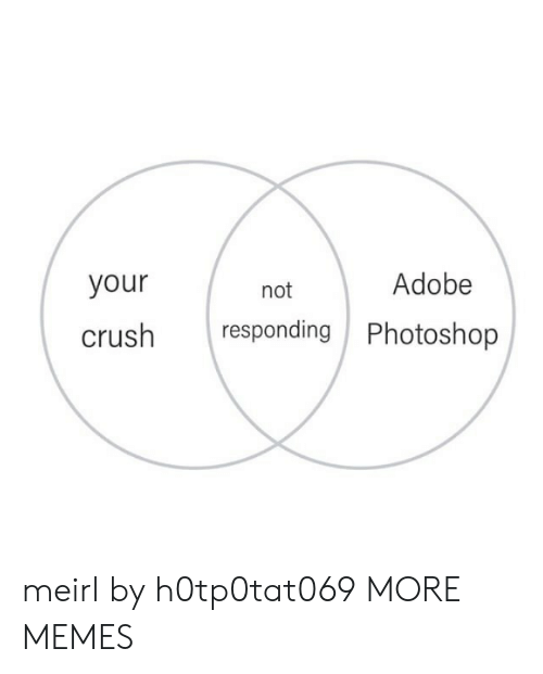 not responding: Adobe  your  not  responding Photoshop  crush meirl by h0tp0tat069 MORE MEMES