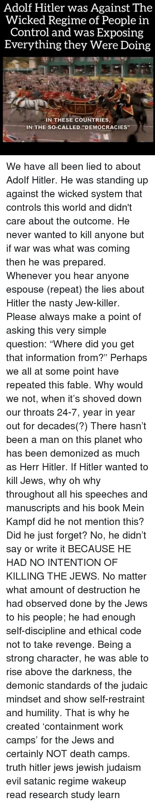 hitler didnt have ethical responsibility It would have to be accepted that nazi perpetrators' moral insight  nazi  perpetrators did not act on their own initiative or responsibility, but as.