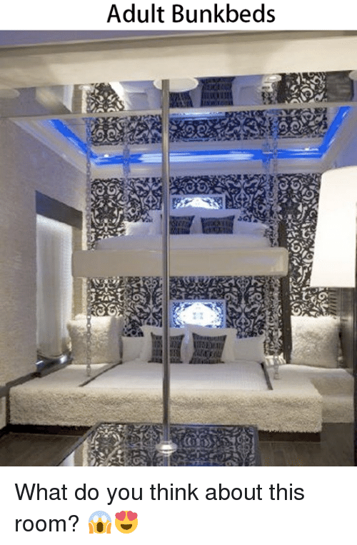 Memes, Bunk Beds, and 🤖: Adult Bunk beds What do you think about this room? 😱😍