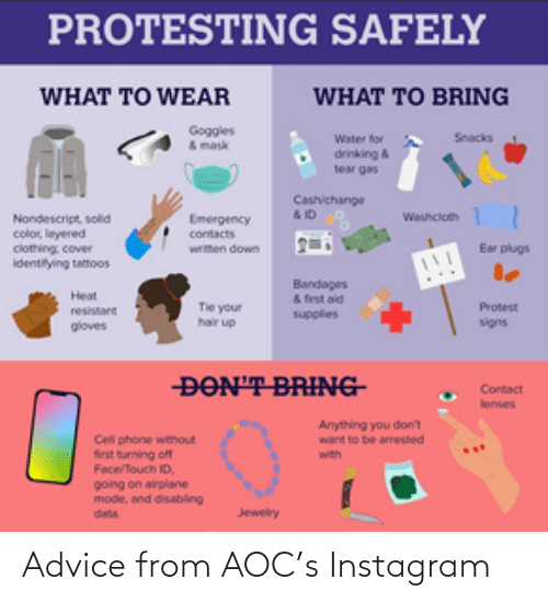 Instagram: Advice from AOC's Instagram