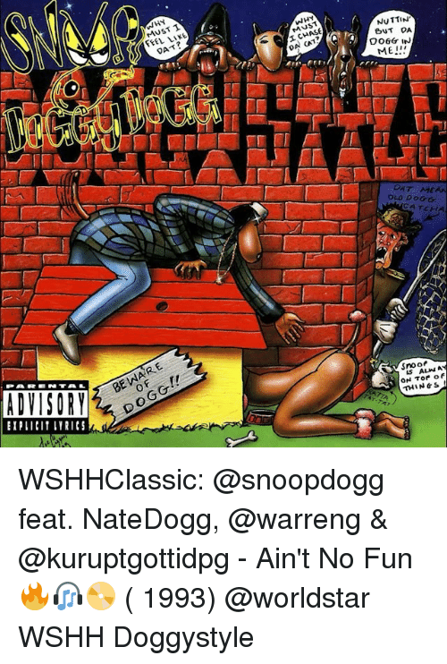 snoo: ADVISORY  UST T  JS  NUTTIN'  BUT DA  DO6Gr IN  OLD DOGG  CATCH  Snoo  ALMN  ON Tor of  THIN WSHHClassic: @snoopdogg feat. NateDogg, @warreng & @kuruptgottidpg - Ain't No Fun 🔥🎧📀 ( 1993) @worldstar WSHH Doggystyle