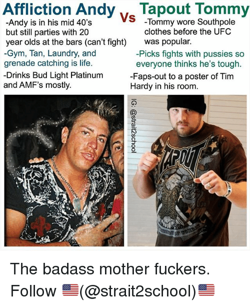 affliction andyvtapout tommy andy is in his mid 40s but 29232342 🔥 25 best memes about clothes, gym, and laundry clothes, gym