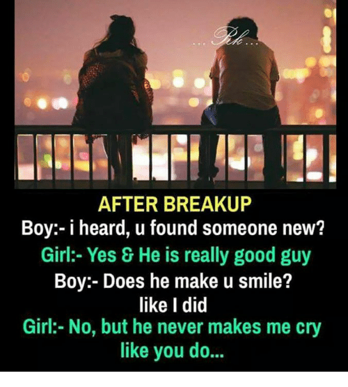 find new girlfriend after breakup One of the cycles familiar to lots and lots of people is the break-up-get-back- together cycle if you've been dating before, odds are you've gone through this once or twice (or thrice, or more) yourself here's how it works: you and a girlfriend break up then after a while, you realize how perfect she'd been for you, and reach.