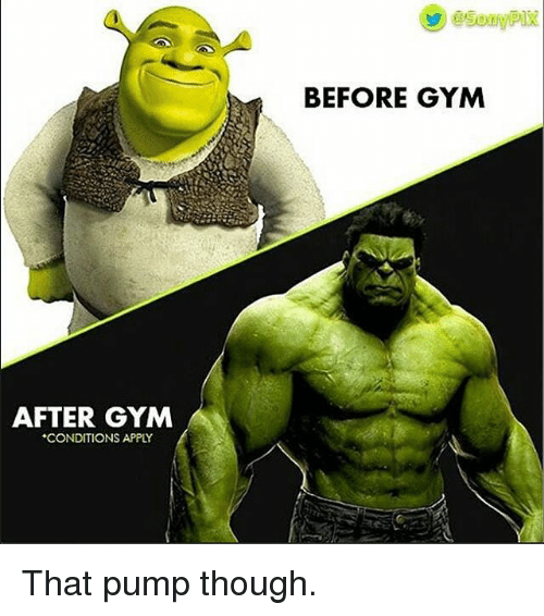 Gym, Applies, and Gyms: AFTER GYM  *CONDITIONS APPLY  BEFORE GYM That pump though.