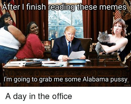 Reddit, Alabama, and Monk: After I finish reading these memes  I'm going to grab me some Alabama pussy  monk A day in the office