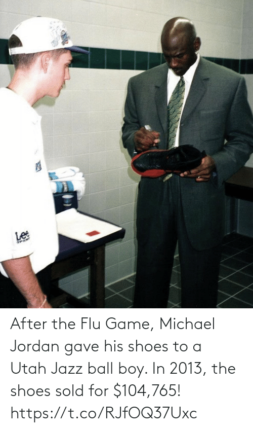 Memes, Michael Jordan, and Shoes: After the Flu Game, Michael Jordan gave his shoes to a Utah Jazz ball boy.   In 2013, the shoes sold for $104,765! https://t.co/RJfOQ37Uxc