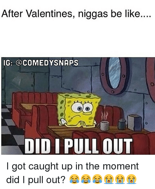 Be Like, Memes, and Niggas Be Like: After Valentines, niggas be like....  IG: a COMEDY SNAPS  DID I PULL OUT I got caught up in the moment did I pull out? 😂😂😂😭😭😭