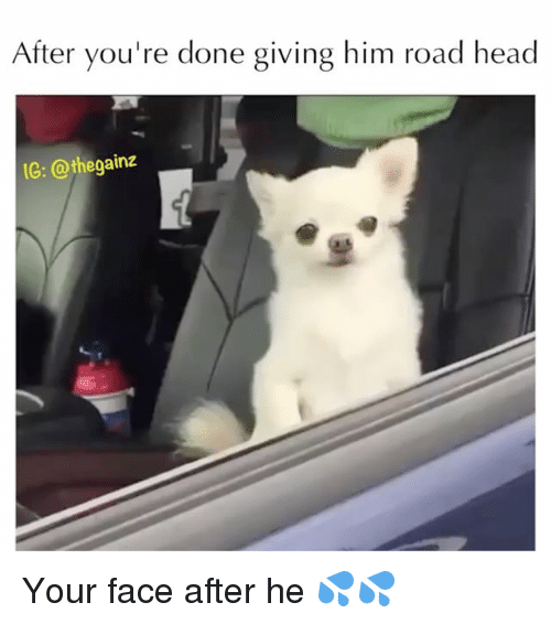 after youre done giving him road head ig thegainz your 27258439 🅱 25 best memes about road head road head memes