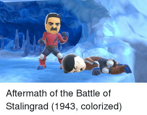 aftermath: Aftermath of the Battle of Stalingrad (1943, colorized)