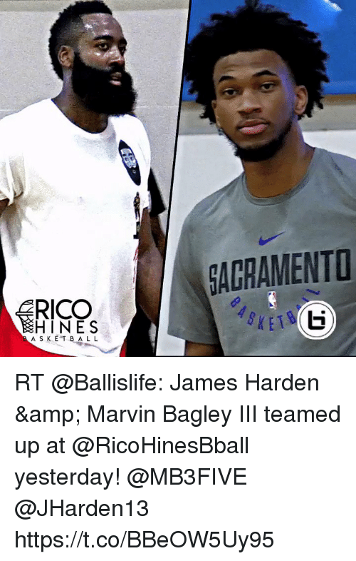 James Harden, Memes, and 🤖: AGRAMENT  HINES  A S KE T BAL L RT @Ballislife: James Harden & Marvin Bagley III teamed up at @RicoHinesBball yesterday! @MB3FIVE @JHarden13 https://t.co/BBeOW5Uy95