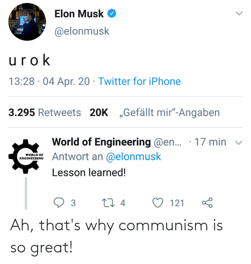 Ah Thats: Ah, that's why communism is so great!