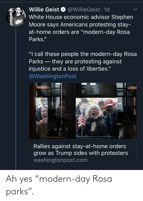 """Rosa: Ah yes """"modern-day Rosa parks""""."""