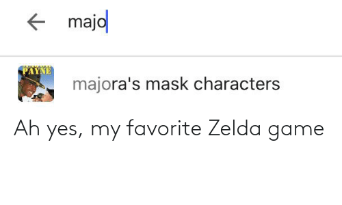 Game, Zelda, and Yes: Ah yes, my favorite Zelda game