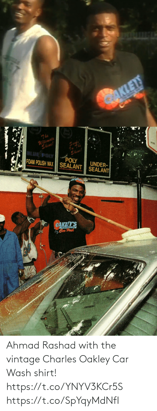 Wash: Ahmad Rashad with the vintage Charles Oakley Car Wash shirt! https://t.co/YNYV3KCr5S https://t.co/SpYqyMdNfI