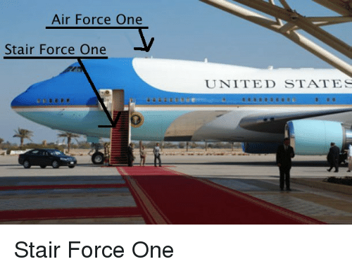 Air Force: Air Force One  Stair Force One  UNITED STATES Stair Force One