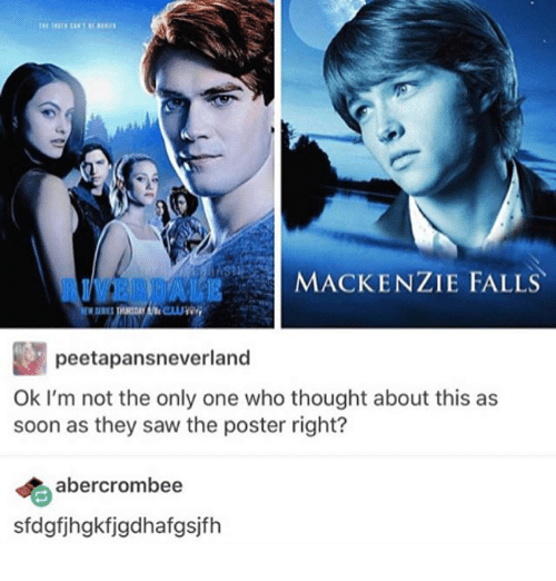 Ironic, Saw, and Soon...: AIVERDALE  MACKENZIE FALLS  peetapansneverland  Ok I'm not the only one who thought about this as  soon as they saw the poster right?  abercrombee  sfdgfjhgkfjgdhafgsjfh