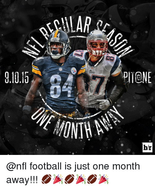 Steelers: ALAR  Steelers  Riddell  br @nfl football is just one month away!!! 🏈🎉🏈🎉🏈🎉