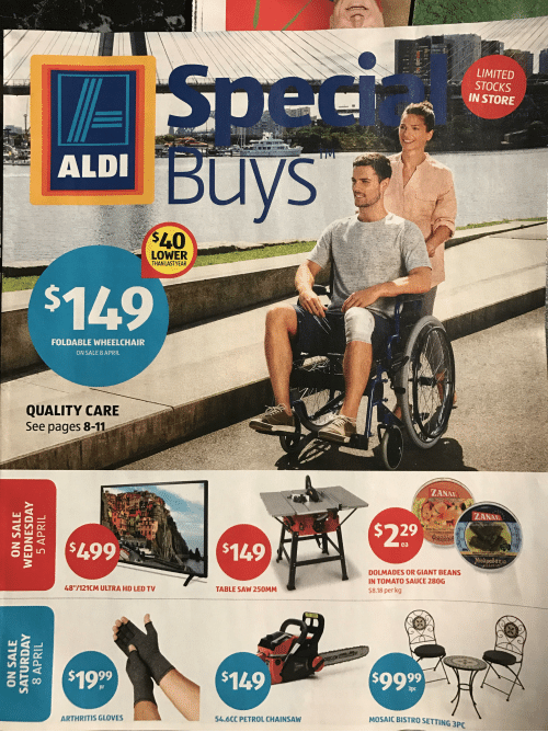 aldi 40 lower than last year foldable wheelchair on sale 18595659 aldi $40 lower than last year foldable wheelchair on sale 8 april