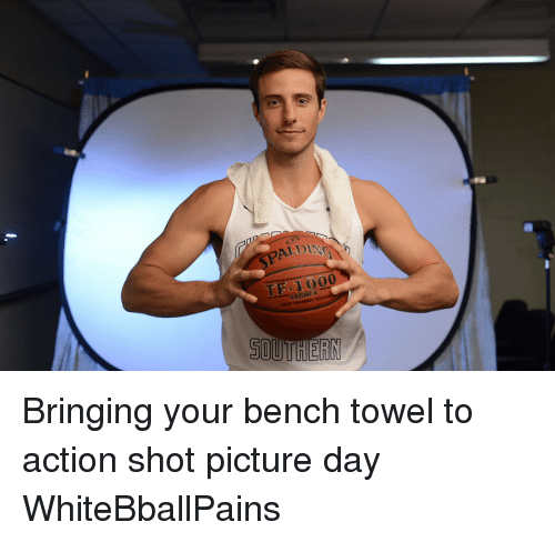 Basketball, White People, and Aldi: ALDI  LEGACY  SOUTHERN Bringing your bench towel to action shot picture day WhiteBballPains