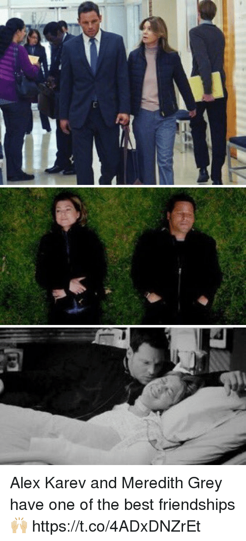 Memes, Best, and Grey: Alex Karev and Meredith Grey have one of the best friendships 🙌🏼 https://t.co/4ADxDNZrEt