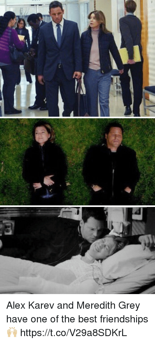 Memes, Best, and Grey: Alex Karev and Meredith Grey have one of the best friendships 🙌🏼 https://t.co/V29a8SDKrL