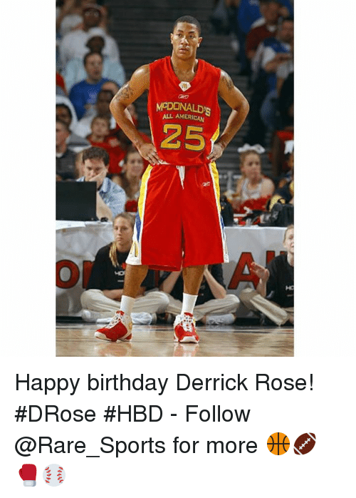 Birthday, Derrick Rose, and Sports: ALL AMERICAN  25 Happy birthday Derrick Rose! #DRose #HBD - Follow @Rare_Sports for more 🏀🏈🥊⚾️