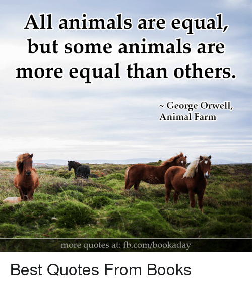 all animals are equal Response to all animals are equal in his article on the existence and philosophy behind discrimination based on species, peter.