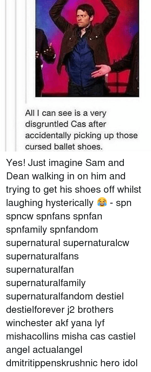Thoses: All I can see is a very  disgruntled Cas after  accidentally picking up those  cursed ballet shoes Yes! Just imagine Sam and Dean walking in on him and trying to get his shoes off whilst laughing hysterically 😂 - spn spncw spnfans spnfan spnfamily spnfandom supernatural supernaturalcw supernaturalfans supernaturalfan supernaturalfamily supernaturalfandom destiel destielforever j2 brothers winchester akf yana lyf mishacollins misha cas castiel angel actualangel dmitritippenskrushnic hero idol