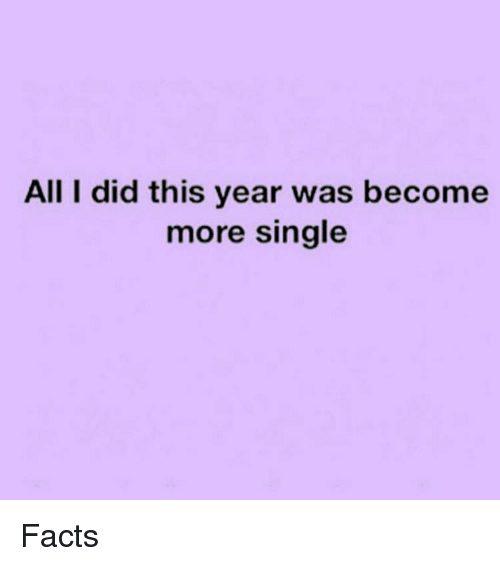 Image result for all i did this year has become more single