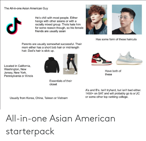 Asian: All-in-one Asian American starterpack