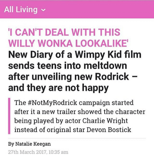Diary Wimpy Actor 2017: 25+ Best Memes About Kids Films