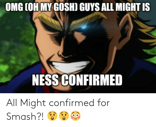 Smashing: All Might confirmed for Smash?! 😲😲😳