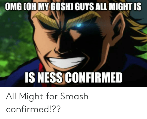 Smashing: All Might for Smash confirmed!??