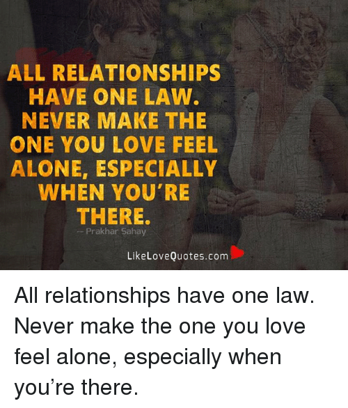 When you feel alone in a relationship