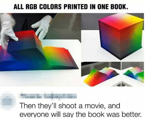 All Rgb Colors Printed In One Book Then They 39 Ll Shoot A