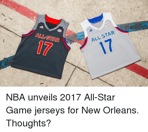 unveiling: ALL STAR  STAR  ALL NBA unveils 2017 All-Star Game jerseys for New Orleans. Thoughts?