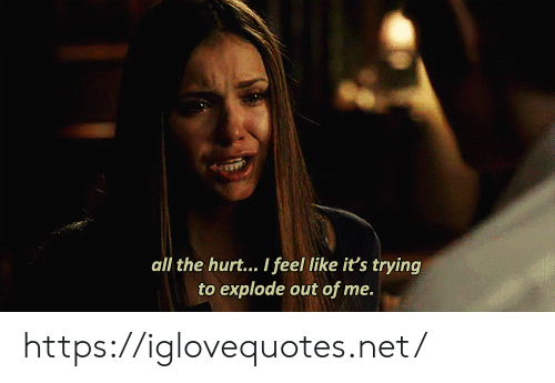 explode: all the hurt... I feel like it's trying  to explode out of me. https://iglovequotes.net/